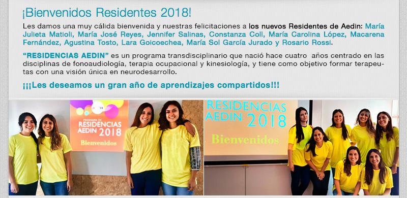Bienvenidos Residentes 2018!